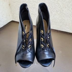 Gold & Black Guess Booties